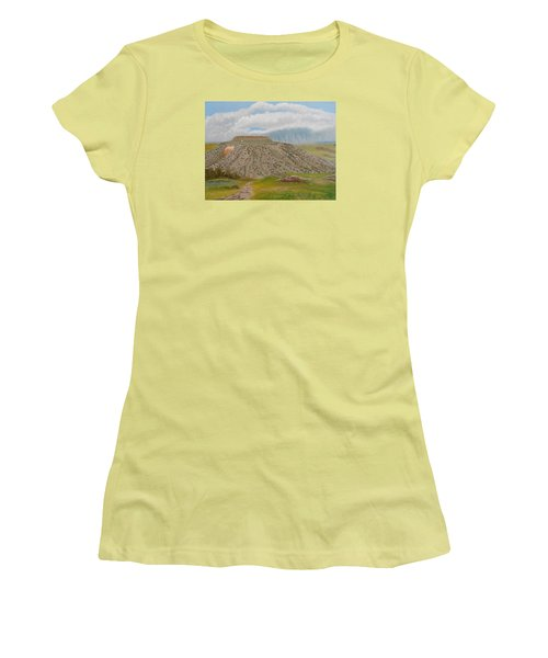 Tucumcari Mountain Reflections On Route 66 Women's T-Shirt (Junior Cut) by Sheri Keith