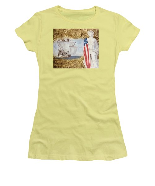 Visions Of Discovery Women's T-Shirt (Junior Cut) by Rich Milo