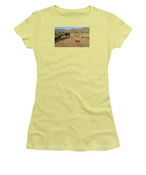 Three Friends On The Range Women's T-Shirt (Athletic Fit)
