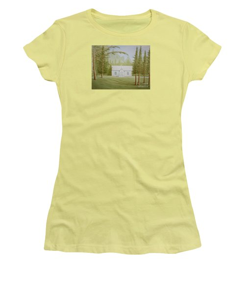 Women's T-Shirt (Junior Cut) featuring the painting A North Carolina Church by Stacy C Bottoms