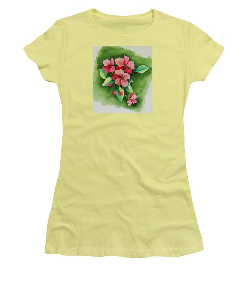 Geraniums Women's T-Shirt (Athletic Fit)