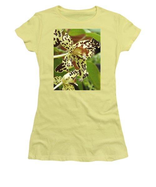 Leopard Orchids Women's T-Shirt (Junior Cut) by Ellen Henneke