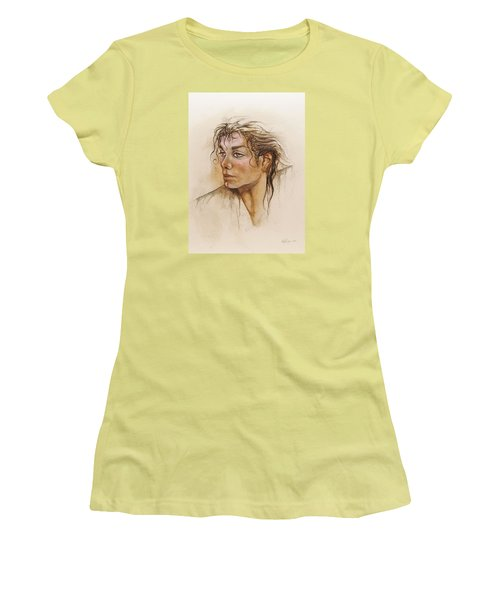 Michael Life Unfinished Women's T-Shirt (Athletic Fit)