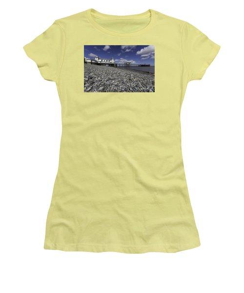 Penarth Pier 2 Women's T-Shirt (Junior Cut) by Steve Purnell