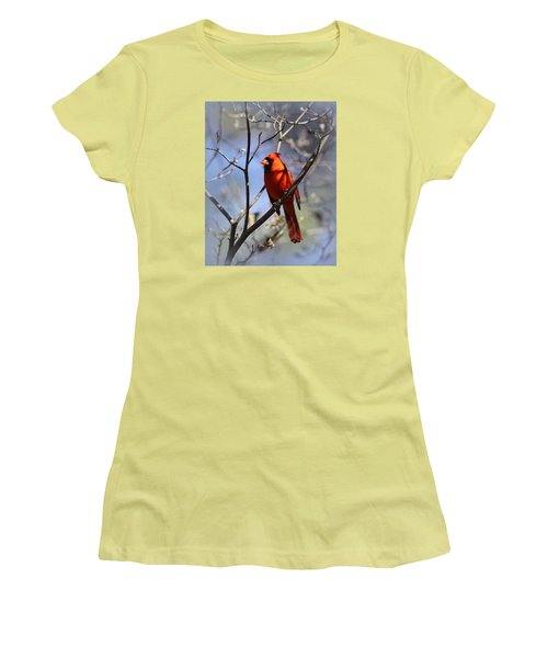3477-006- Northern Cardinal Women's T-Shirt (Athletic Fit)