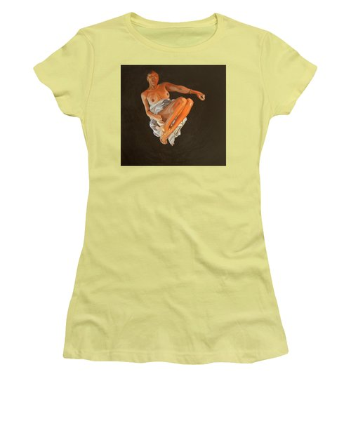 Women's T-Shirt (Junior Cut) featuring the painting 4 30 Am by Thu Nguyen