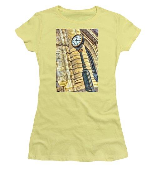 4 O'clock Train Women's T-Shirt (Junior Cut) by Sennie Pierson