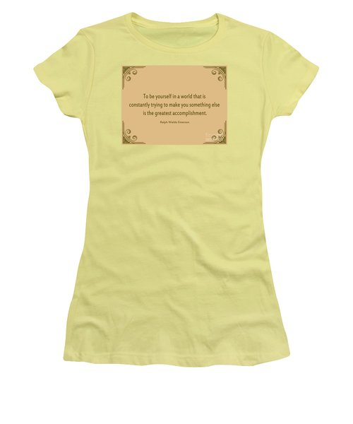 58- Ralph Waldo Emerson Women's T-Shirt (Athletic Fit)