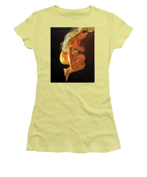 Women's T-Shirt (Junior Cut) featuring the painting 9 30 Am by Thu Nguyen