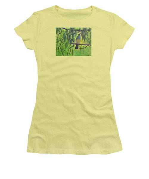 A Bird Looking At Me Women's T-Shirt (Athletic Fit)