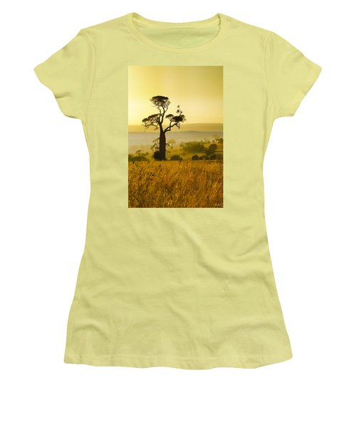 A Boab Sunrise Women's T-Shirt (Junior Cut) by Holly Kempe