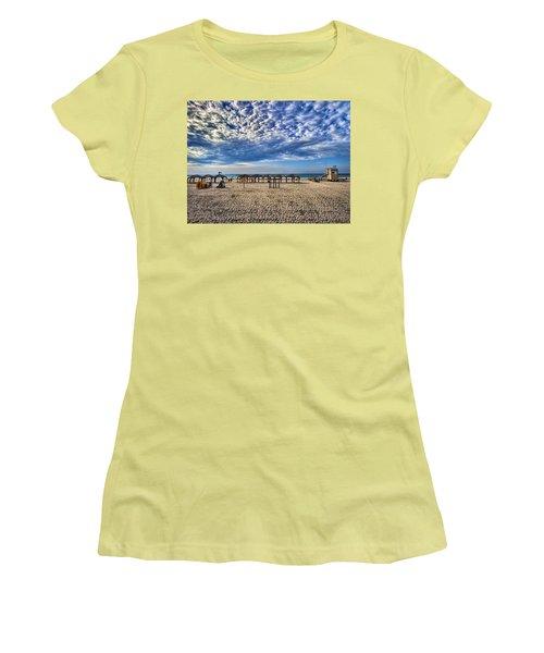 a good morning from Jerusalem beach  Women's T-Shirt (Junior Cut) by Ron Shoshani