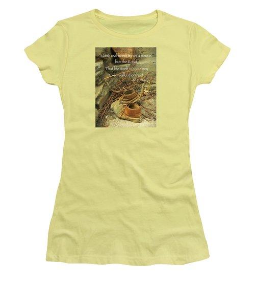 Women's T-Shirt (Junior Cut) featuring the photograph A Long Way by Simona Ghidini