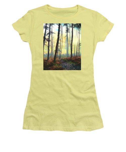 A Lovely Walk On Cannock Chase Women's T-Shirt (Junior Cut) by Jean Walker