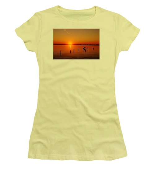 A New Day Dawns... Over Dock Remains Women's T-Shirt (Athletic Fit)