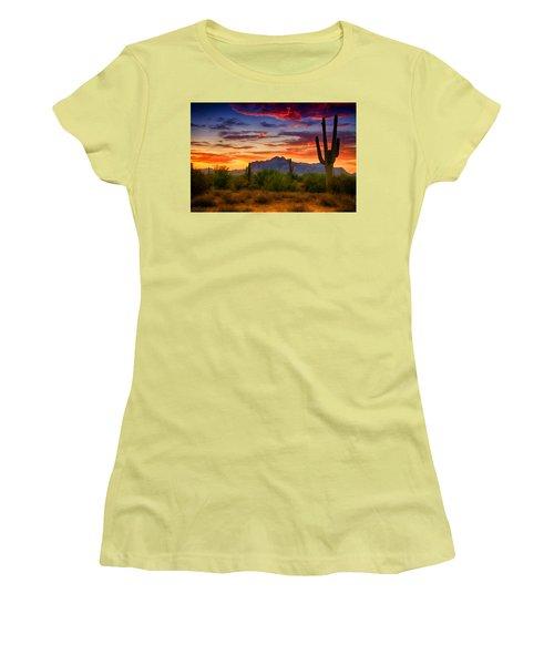 A Painted Desert  Women's T-Shirt (Junior Cut) by Saija  Lehtonen