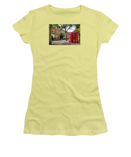 A Pair Of Red Phone Booths Women's T-Shirt (Athletic Fit)