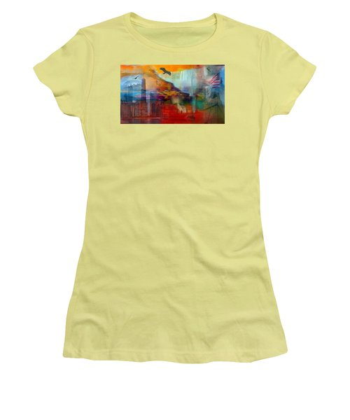 A Piece Of America Women's T-Shirt (Junior Cut) by Randi Grace Nilsberg