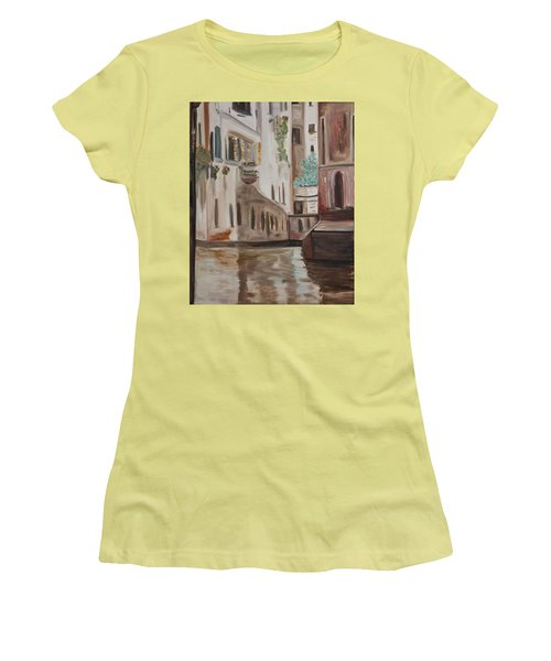 A Quiet Venice Canal Women's T-Shirt (Athletic Fit)