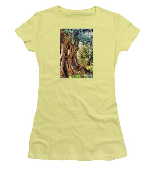 A Really Old Olive Tree Women's T-Shirt (Junior Cut) by Dragica  Micki Fortuna