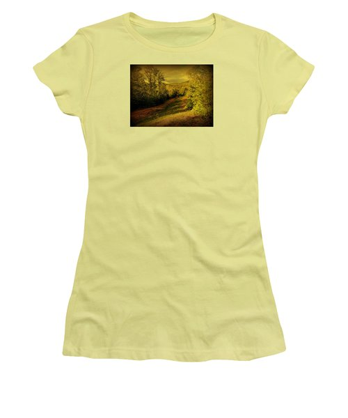 Women's T-Shirt (Junior Cut) featuring the photograph A Road Less Traveled by Mim White