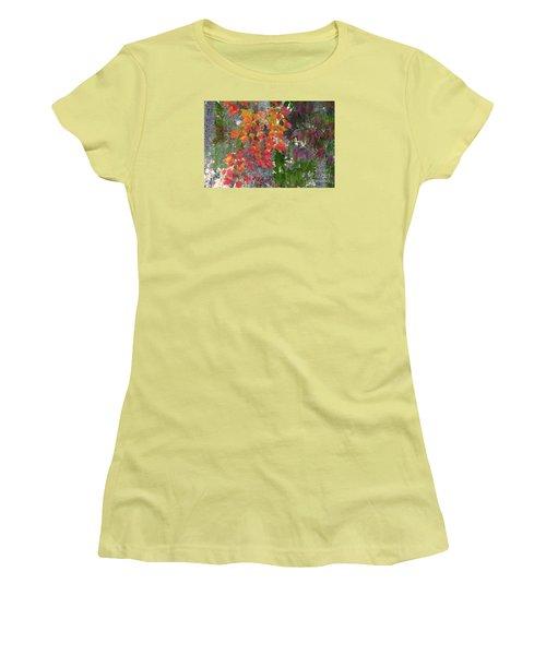 A Touch Of Autumn Women's T-Shirt (Junior Cut) by Mariarosa Rockefeller