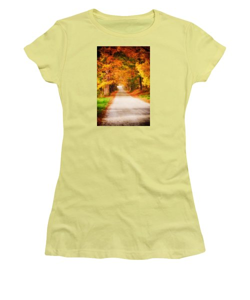 A Walk Along The Golden Path Women's T-Shirt (Athletic Fit)