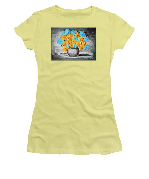 A Whole Bunch Of Daisies Selective Color II Women's T-Shirt (Junior Cut) by Ramona Matei