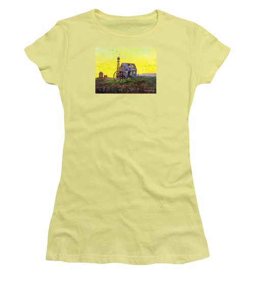 Abandoned  Farm Women's T-Shirt (Athletic Fit)
