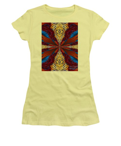 Abstract Feathers Women's T-Shirt (Athletic Fit)