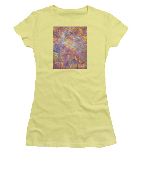 Women's T-Shirt (Junior Cut) featuring the painting Abstract Impressions by Donna Dixon