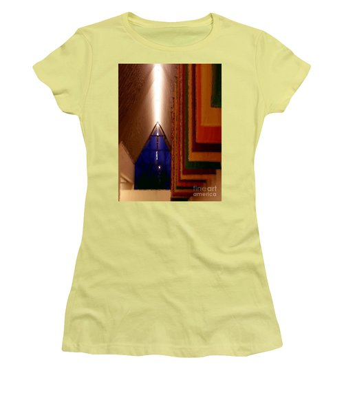 Abstract - Center For The Arts Interior Allentown Pa Women's T-Shirt (Junior Cut) by Jacqueline M Lewis