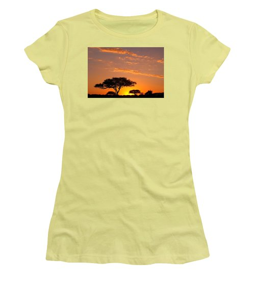 African Sunset Women's T-Shirt (Junior Cut) by Sebastian Musial