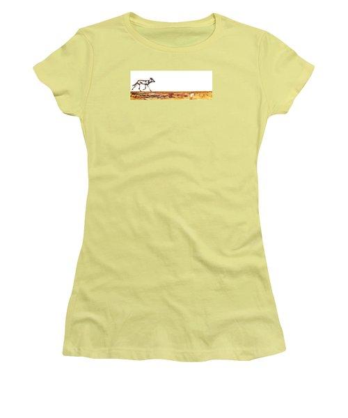 Endangered African Wild Dog - Original Artwork Women's T-Shirt (Athletic Fit)