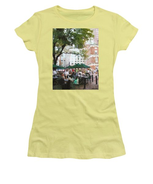 Afternoon At Faneuil Hall Women's T-Shirt (Junior Cut) by Jeff Kolker