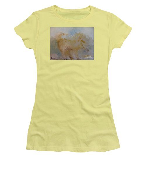 Women's T-Shirt (Junior Cut) featuring the painting Airwalking by Laurie L