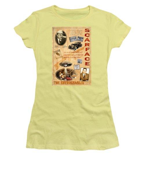 Al Capone Women's T-Shirt (Junior Cut) by Andrew Fare