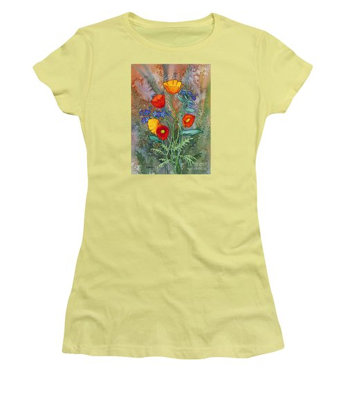 Alaska Poppies And Forgetmenots Women's T-Shirt (Athletic Fit)