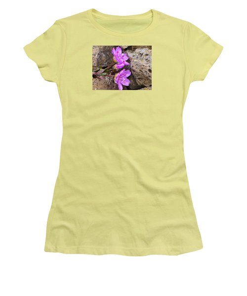 Alaskan Wildflower Women's T-Shirt (Junior Cut) by Julie Andel