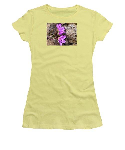 Alaskan Wildflower Women's T-Shirt (Athletic Fit)