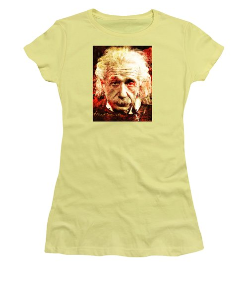 Albert Einstein  Women's T-Shirt (Athletic Fit)