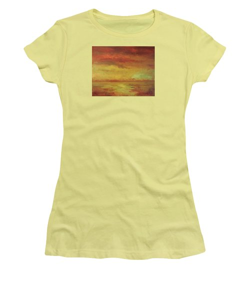 Women's T-Shirt (Junior Cut) featuring the painting Allegro by Mary Wolf