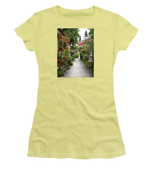 Alley Of Roses Women's T-Shirt (Athletic Fit)