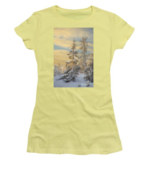 Women's T-Shirt (Junior Cut) featuring the photograph Alone But Strong by Rose-Maries Pictures