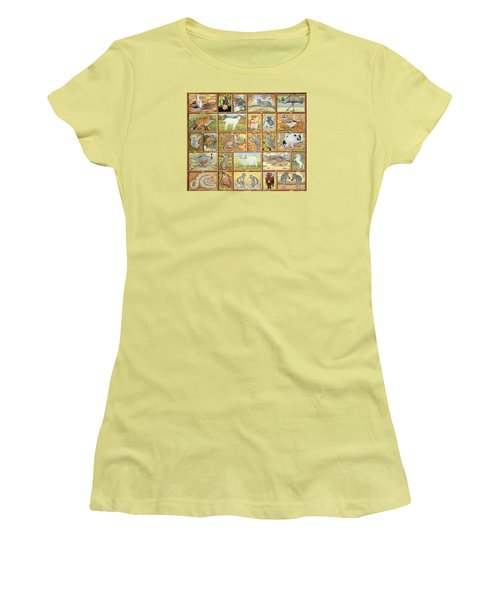 Alphabetical Animals Women's T-Shirt (Athletic Fit)