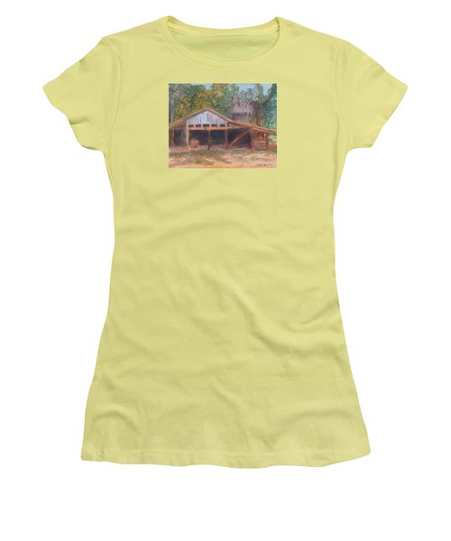 Alpine Groves Fruit Packing Shed Women's T-Shirt (Athletic Fit)
