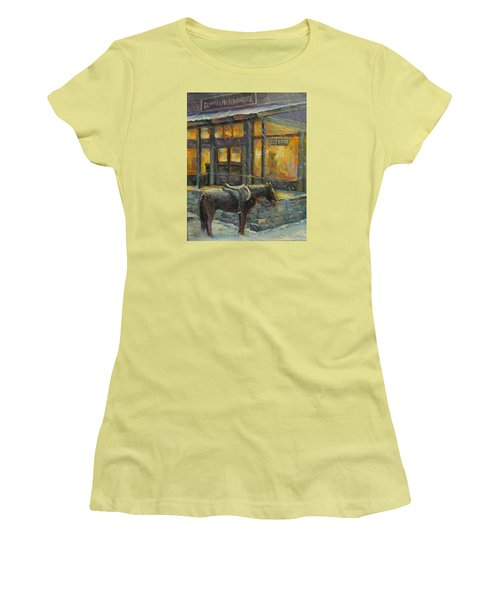 Women's T-Shirt (Junior Cut) featuring the painting Always Open by Donna Tucker