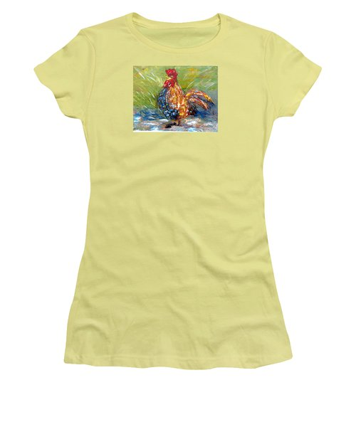Amazed Rooster Women's T-Shirt (Athletic Fit)
