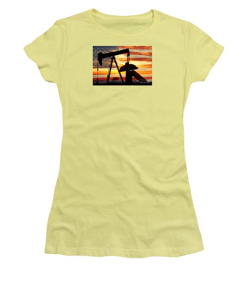 American Oil  Women's T-Shirt (Junior Cut) by James BO  Insogna