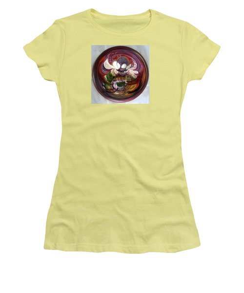 Anamorphic Chinese Pagoda Women's T-Shirt (Junior Cut) by LaVonne Hand